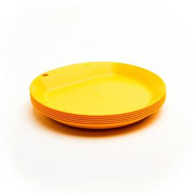 Wildo Camper Plate Flat Set Unicolor 6x Lemon